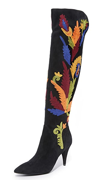 Alice + Olivia Corin Tall Boots - Black Multi at Shopbop