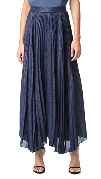 Alice + Olivia Katz Sunburst Pleated Maxi Skirt - Sapphire at Shopbop