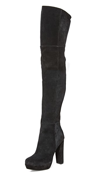 Alice + Olivia Halle Over The Knee Boots - Black at Shopbop