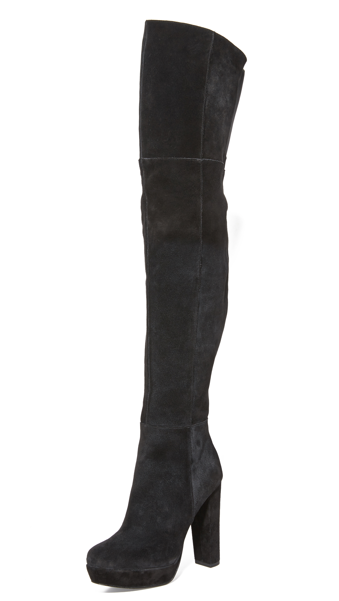 Alice + Olivia Halle Over The Knee Boots - Black