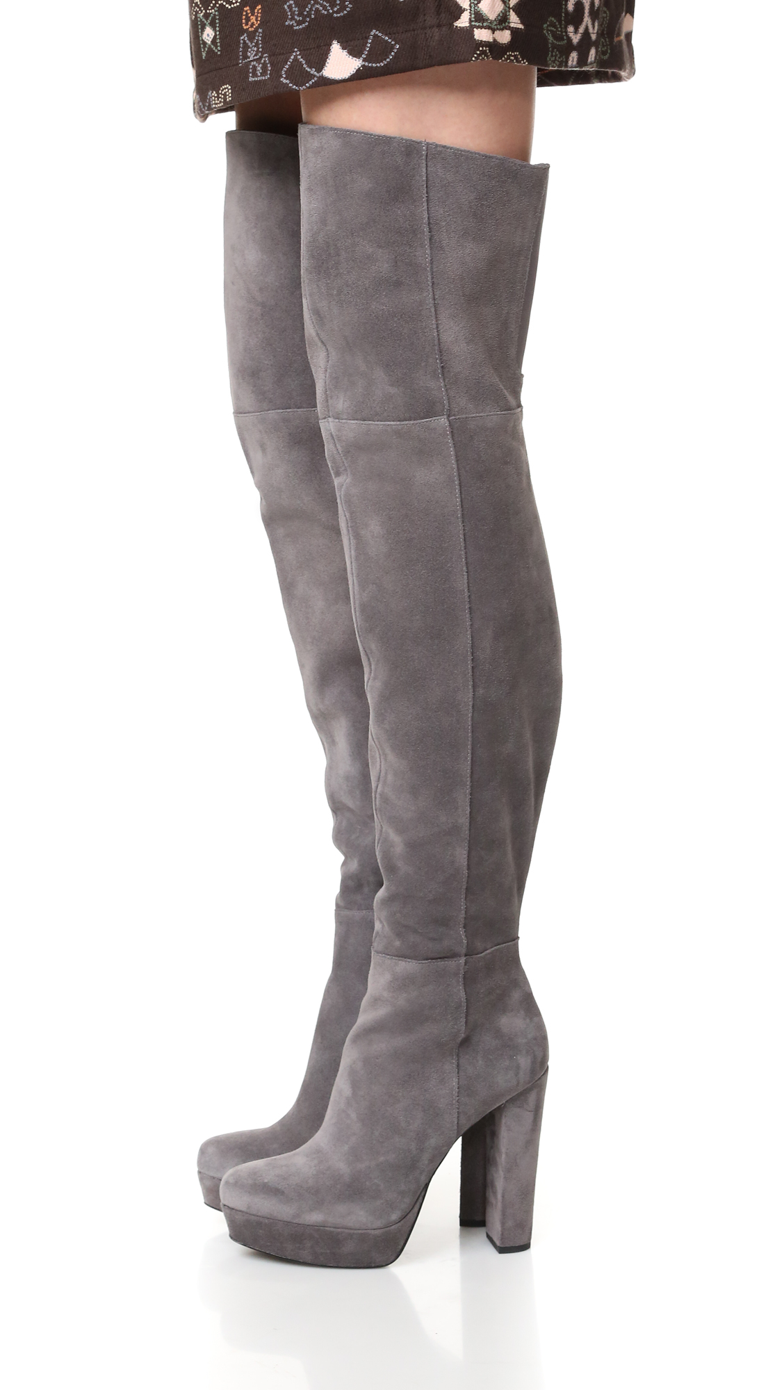 Alice   Olivia Halle Over The Knee Boots - Charcoal - Hip Designer ...