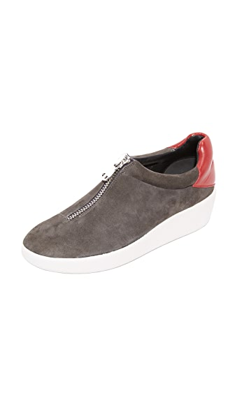 Alice + Olivia Laney Slip On Sneakers - Charcoal/Ruby at Shopbop