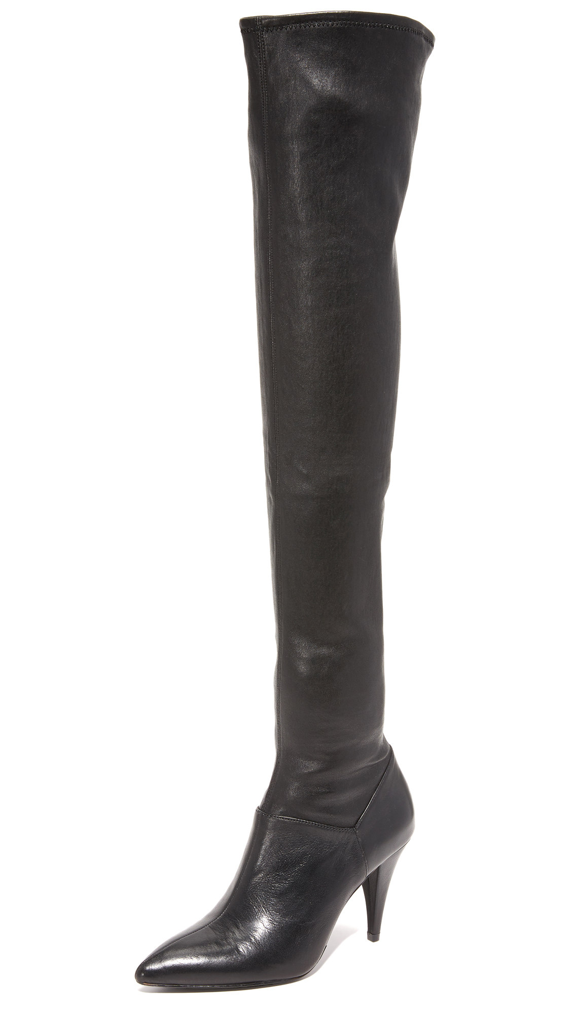 Alice + Olivia Casey Over The Knee Boots - Black