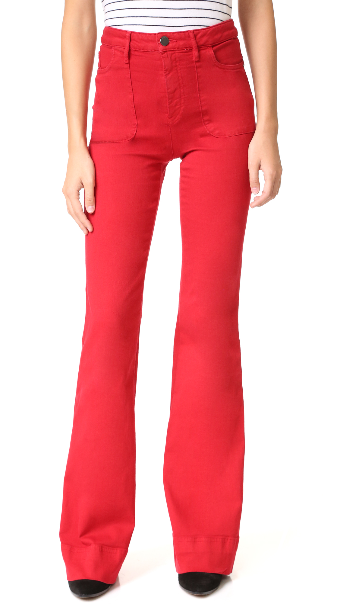 Alice + Olivia Juno High Waisted Wide Leg Jeans - Ruby at Shopbop