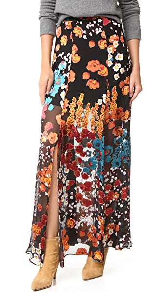 Alice + Olivia Athena Maxi Skirt - Floral Field Burnout at Shopbop