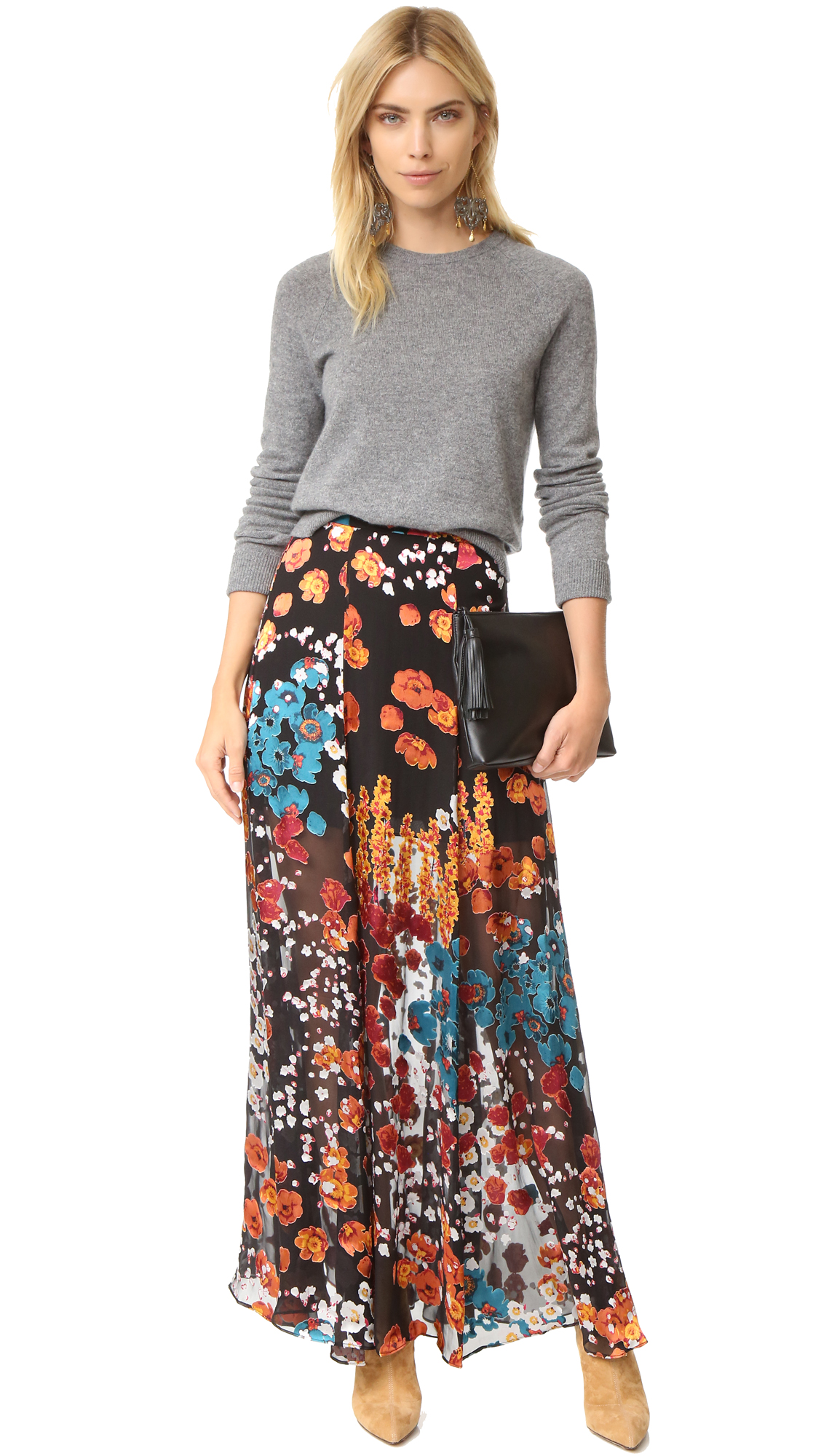 87ec5e6bda5a24 Floral Maxi Skirt Shopstyle | Saddha