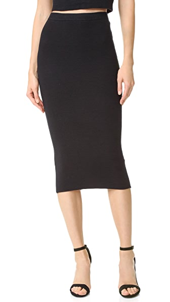 Alice + Olivia Holley Zip Ottoman Skirt - Black at Shopbop