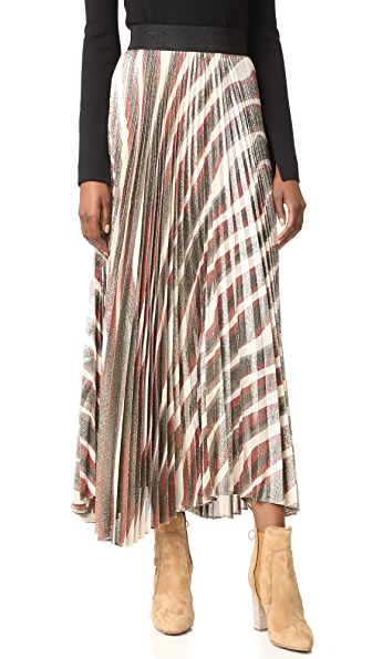 Alice + Olivia Maura Sunburst Pleated Skirt - Multi at Shopbop