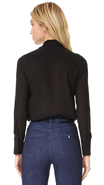 alice + olivia Felipa Bow Neck Top