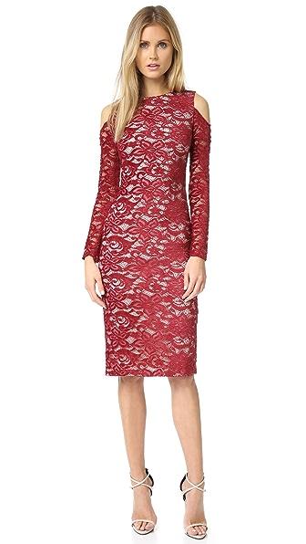 alice + olivia Laila Open Shoulder Dress