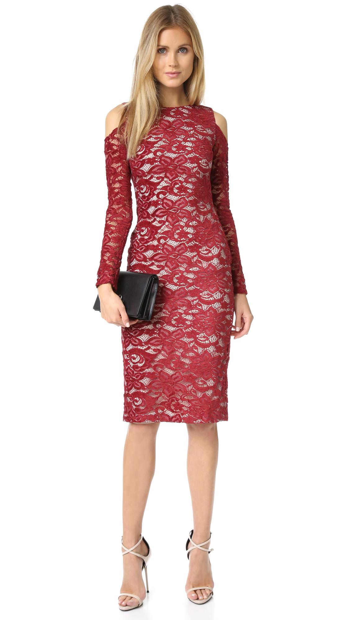 Alice Olivia Laila Open Shoulder Dress Shopbop Hoc Store Batik French Cuff