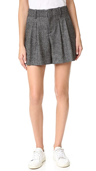alice   olivia Eloise High Waist Pleated Shorts | SHOPBOP