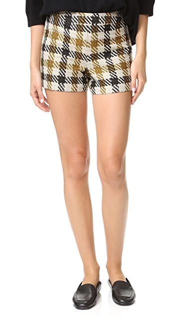 alice + olivia Marisa Back Zip Shorts