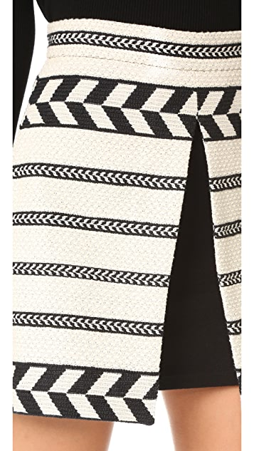 alice + olivia Daysi Mini Front Slit Skirt
