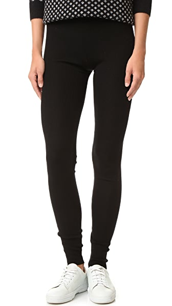 alice + olivia Ronnie Ribbed Leggings