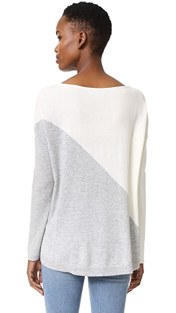 alice + olivia Abbie Colorblocked High Low Sweater