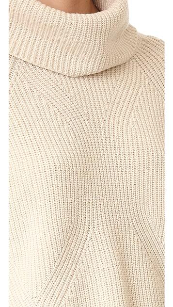 alice + olivia Nettie Raglan Rib Turtleneck Sweater