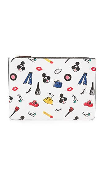 alice + olivia Stacey Print Medium Zip Pouch - Multi