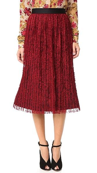 alice + olivia Mikaela Pleated Skirt
