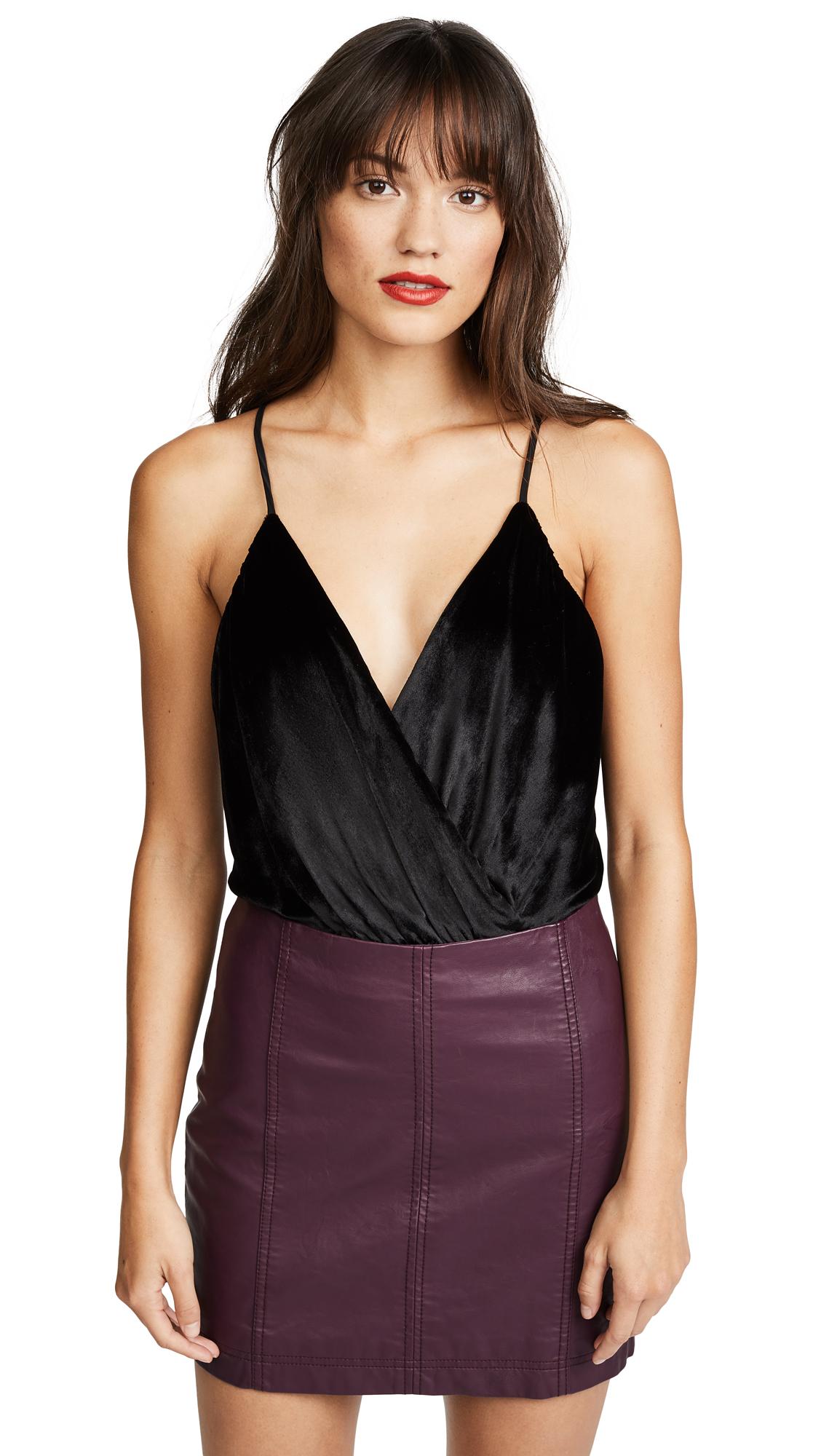alice + olivia Ballerina Bodysuit - Black