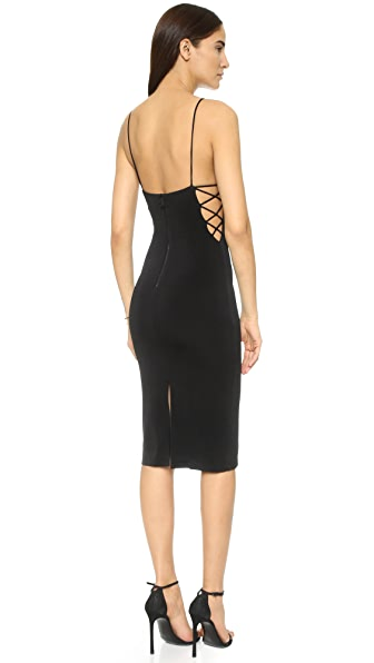 alice + olivia AIR Kia Side Strap Mid Length Dress at Shopbop