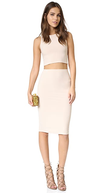 alice + olivia AIR Leilani Cutout Back Crop Top