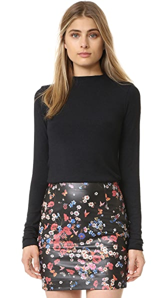 alice + olivia Genova Fitted Sweater - Black
