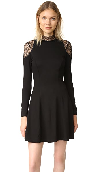 alice + olivia Candice Lace Insert Dress