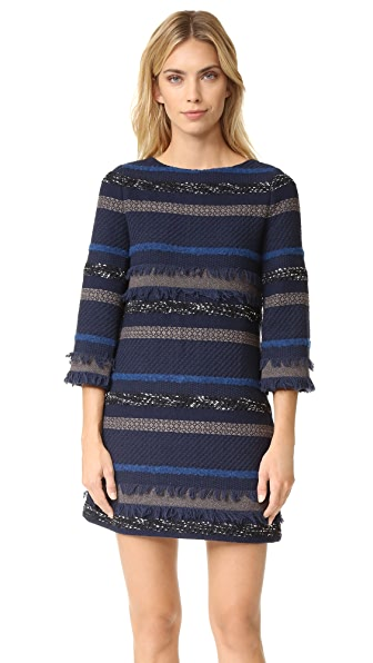 alice + olivia Evelina Bell Sleeve A Line Dress