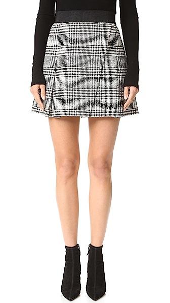 alice + olivia Cindie Pleated Miniskirt