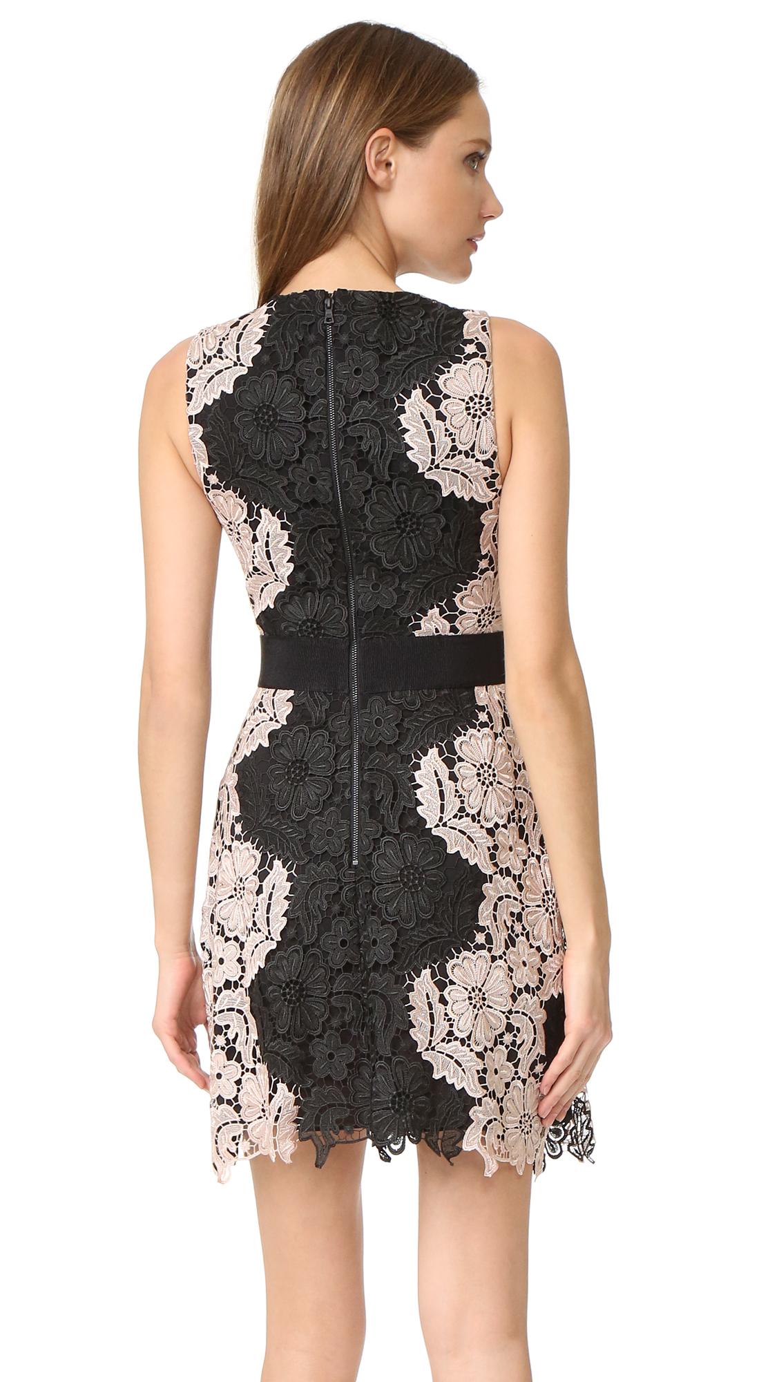 alice + olivia Patrice Aline Lace Dress | SHOPBOP
