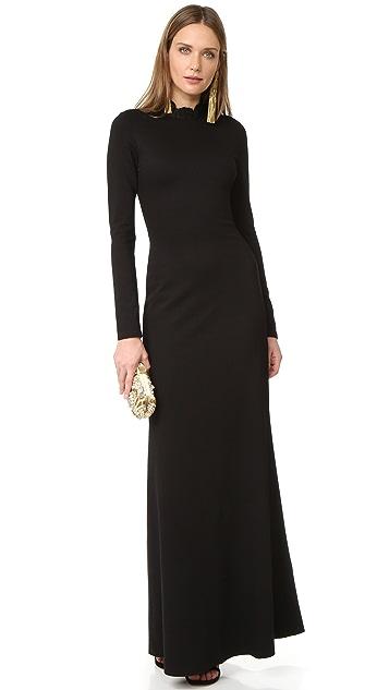 alice + olivia Rosamund Dress with Tear Drop Back