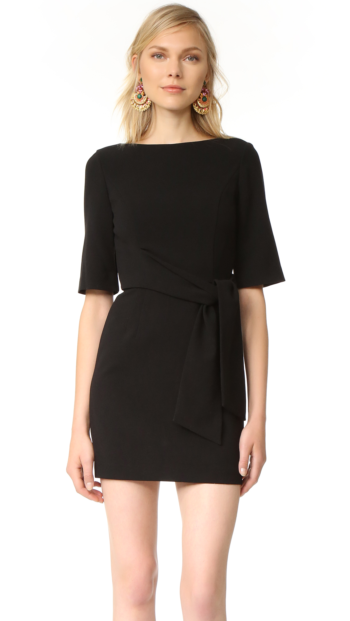Alice + Olivia Virgil Wrap Dress - Black