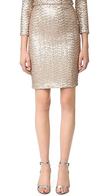alice + olivia Ramos Sequin Midi Skirt
