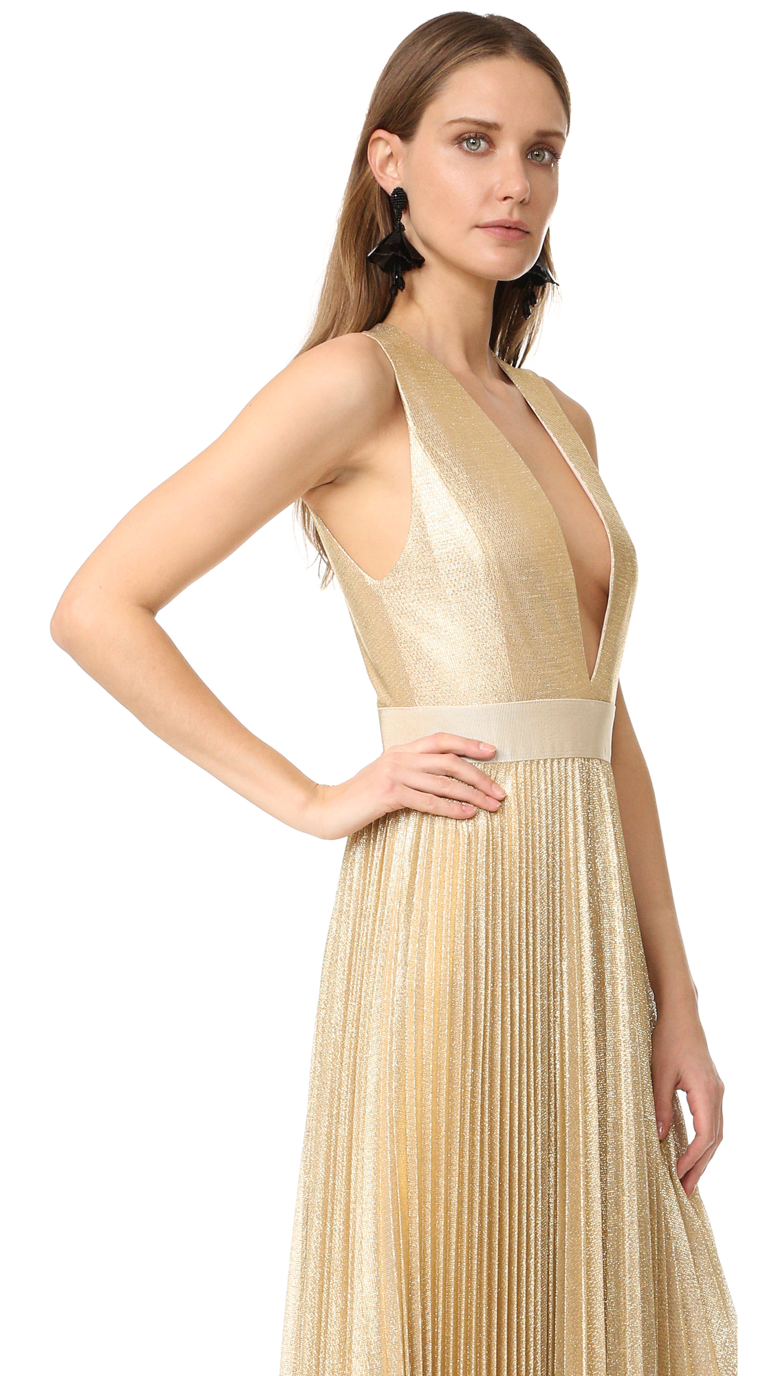 alice + olivia Carisa Sunburst Pleated Gown | SHOPBOP