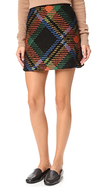 Alice + Olivia Jesse High Waisted A-Line Skirt - Multi at Shopbop