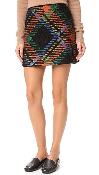 alice + olivia Jesse High Waisted A-Line Skirt