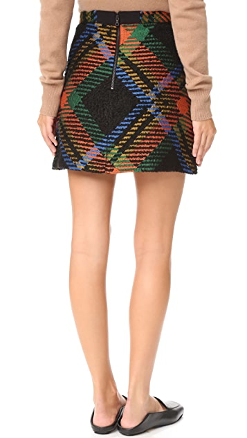 alice + olivia Jesse High Waisted A-Line Skirt