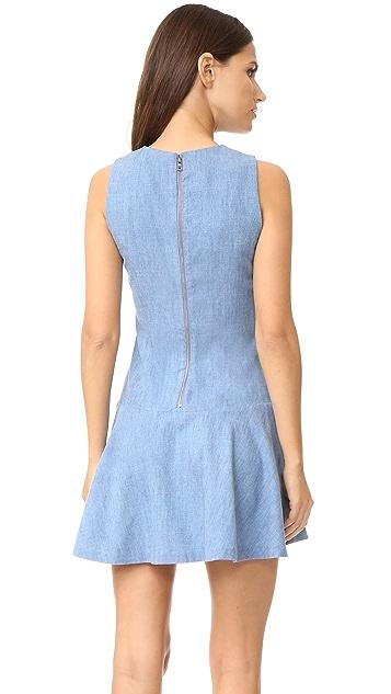 alice + olivia Elida Drop Waist Sleeveless Dress