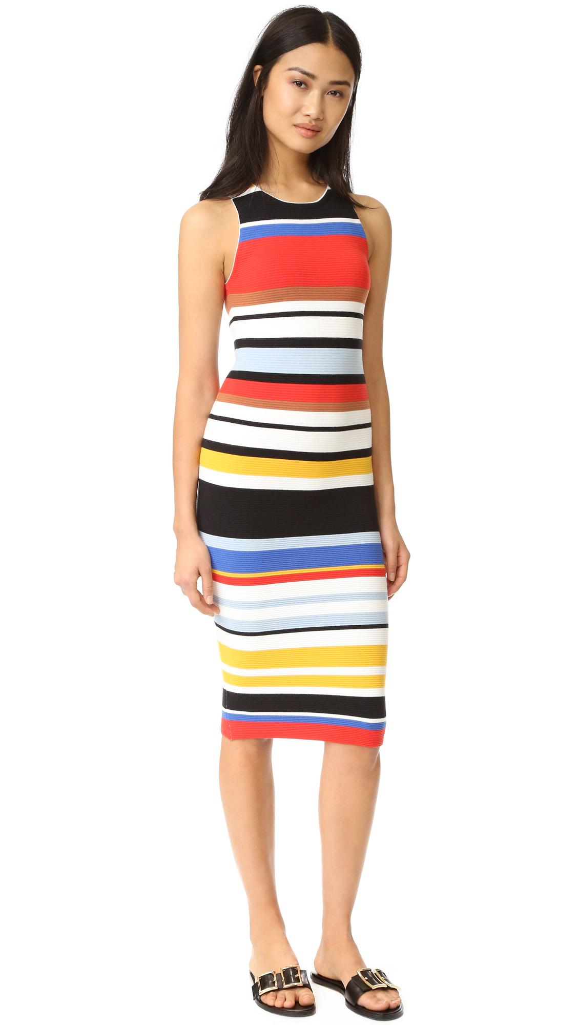 alice + olivia Jenner Striped Dress | SHOPBOP