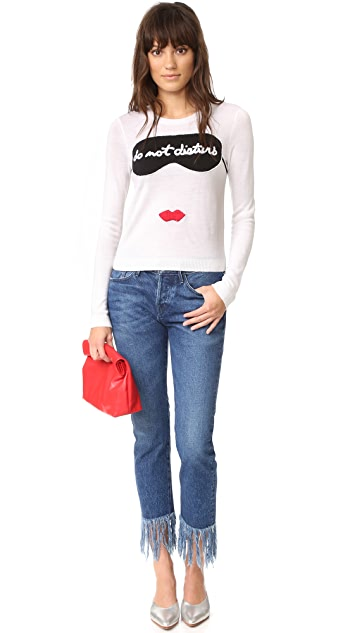 alice + olivia Stace Face Do Not Disturb Sweater