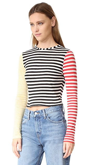 alice + olivia Jax Long Sleeve Crop Top