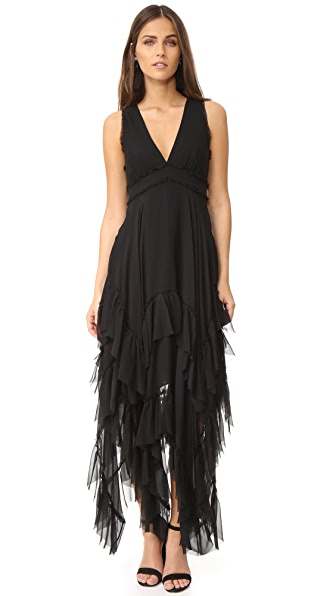 alice + olivia Brynn Handkerchief Ruffle Gown at Shopbop