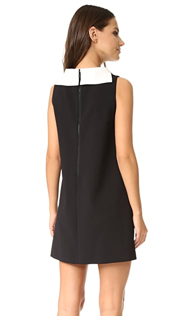 alice + olivia Bellini Shift Dress with Collar