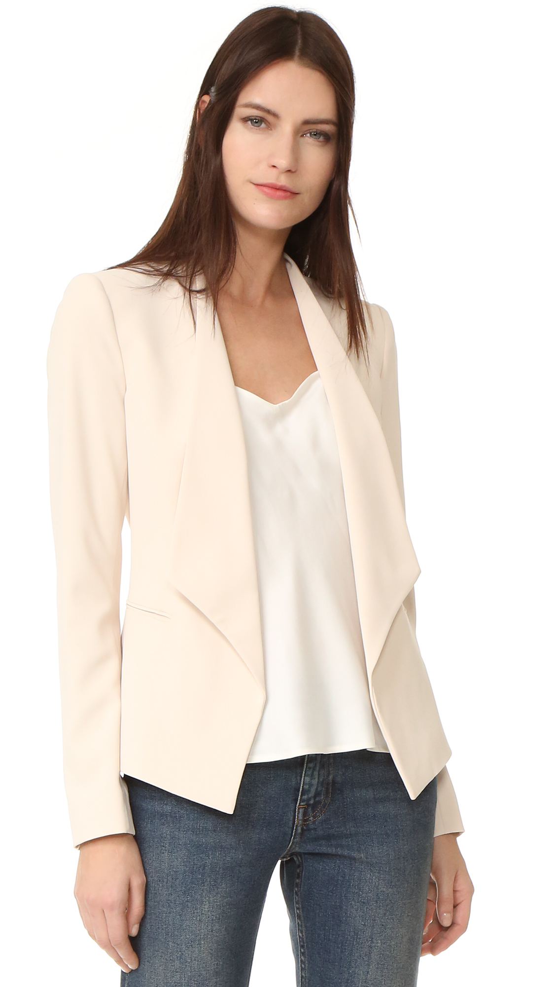 Alice + Olivia Francisca Draped Collar Blazer - Champagne at Shopbop