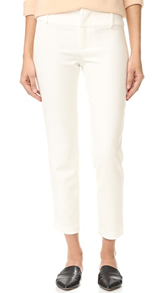 alice + olivia Stacey Fitted Ankle Trousers - Off White