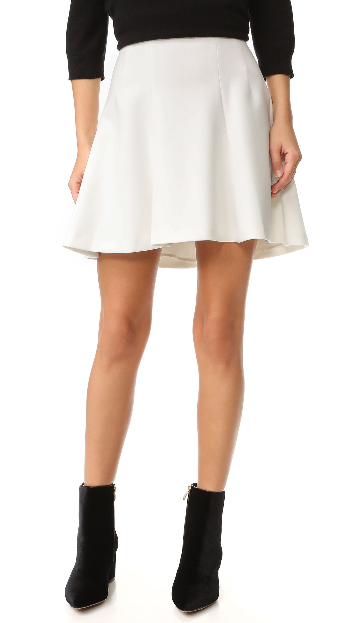 Alice + Olivia Sibel Fit & Flare Skirt - Off White
