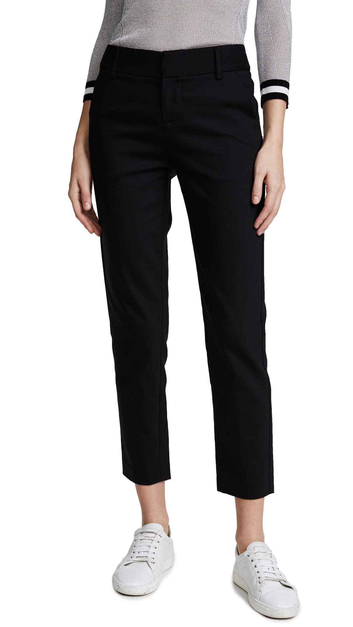 alice + olivia Stacey Slim Pants - Black