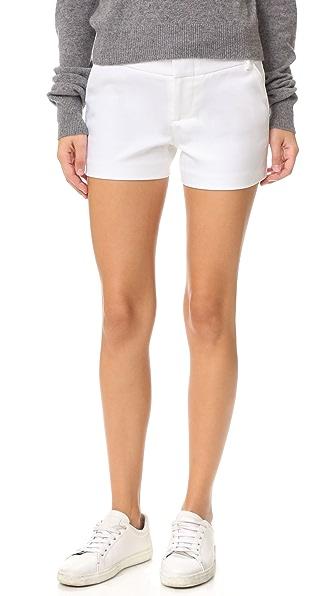 alice + olivia Cady Shorts In White