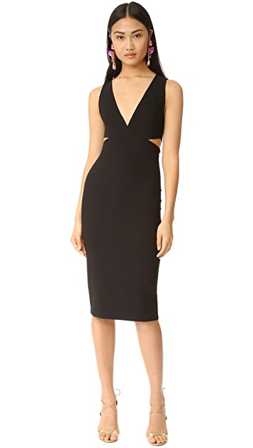 alice + olivia Riki Fitted Cutout Dress